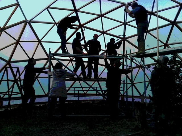 Bir  Geodezik Dome Yapımı için Gidilen Güne Neler Sığdırılır...